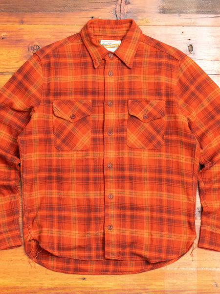 Wells Work Shirt in Rust Plaid