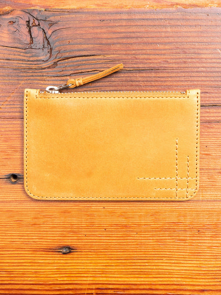 Zip Pouch in Natural Cowhide