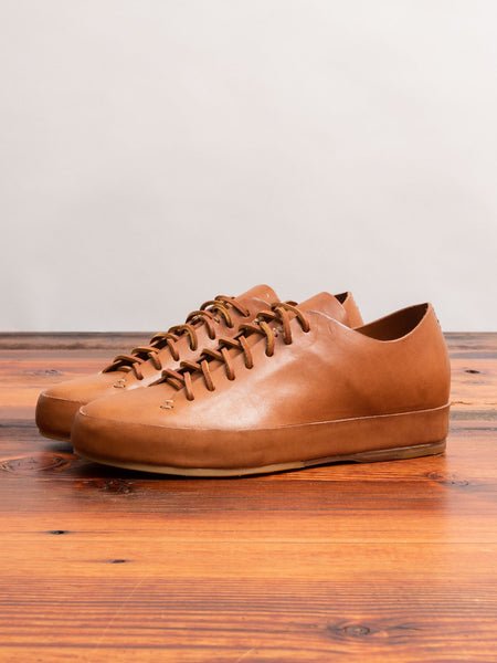 Hand Sewn Low-Top Sneaker in Tan