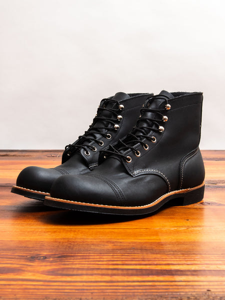 8084 Iron Ranger Boot in Black