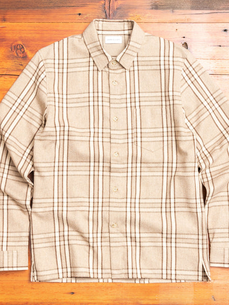 Sly Straight Hem Flannel in Beachwood Check