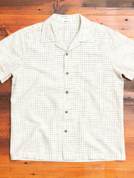 Handloom Crosshatch Vacation Shirt in Natural