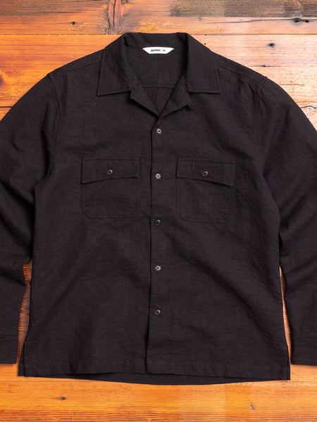 Jacquard Camp Shirt in Black