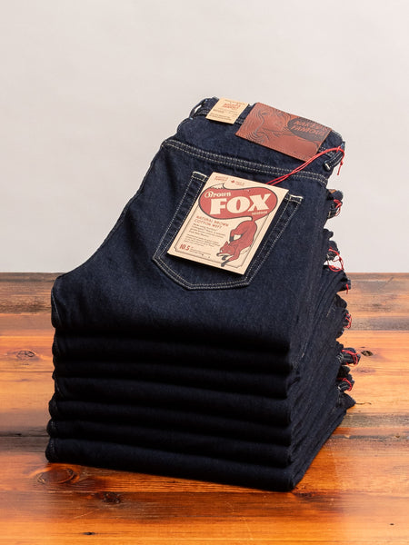 """Brown Fox"" 10.5oz Selvedge Denim - Weird Guy Fit"
