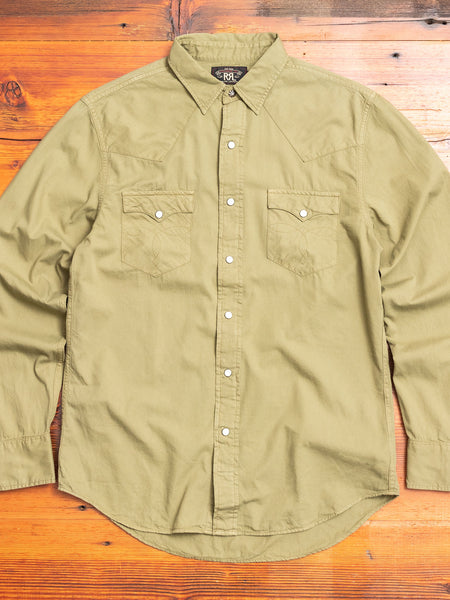 Buffalo Western Shirt in Olive