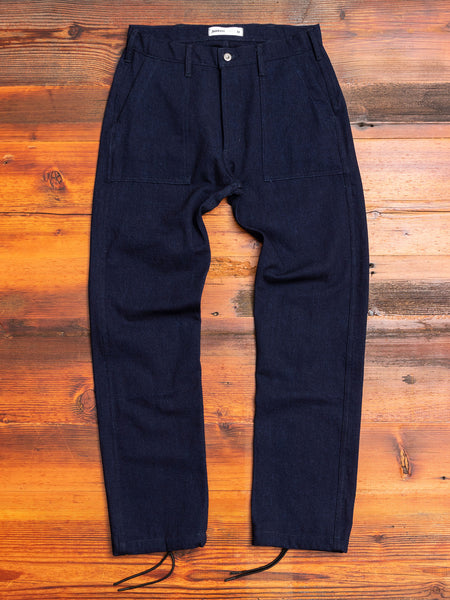 Denim Fatigue Pant in Indigo/Indigo