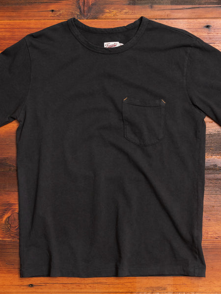 9oz Pocket T-Shirt in Black
