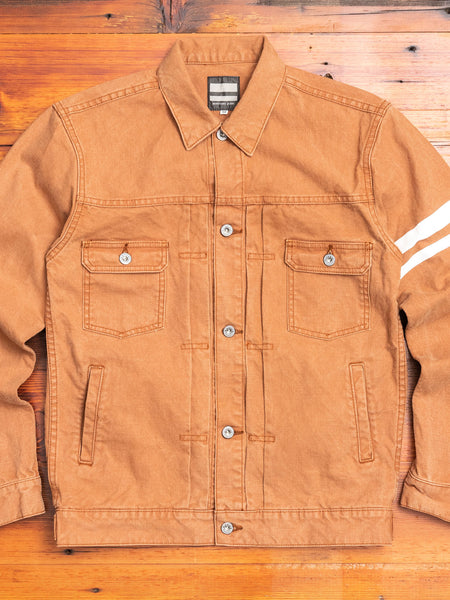 "03-142 ""Going to Battle"" Washed Duck Canvas Jacket in Brown"