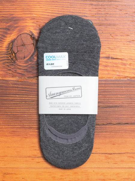 COOLMAX Loafer Sock in Charcoal
