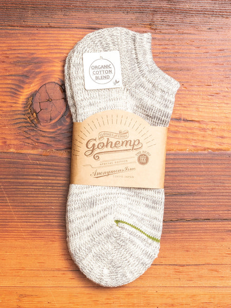 """Go Hemp"" Ankle Length Sock in Grey"