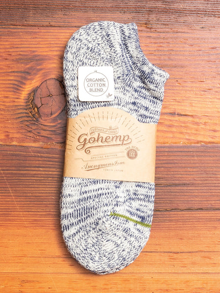 """Go Hemp"" Ankle Length Sock in Blue"