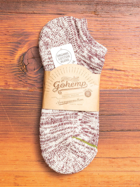 """Go Hemp"" Ankle Length Sock in Wine"