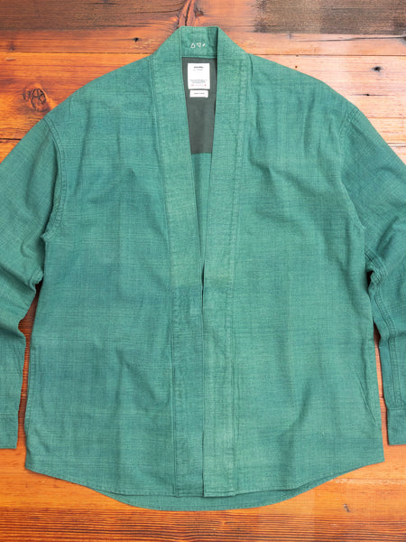 Lhamo Shirt in Green Indigo