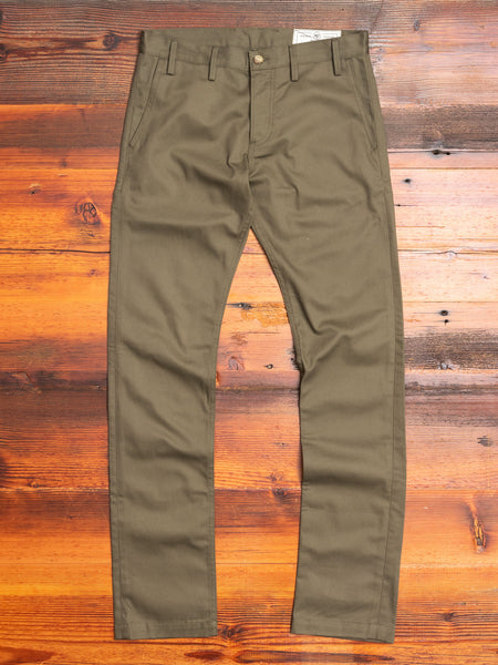 """Officer Trouser"" in Olive Twill"