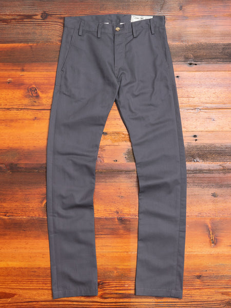 """Officer Trouser"" in Grey Twill"