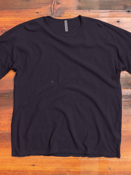 Drop Shoulder Relaxed T-Shirt in Dark Navy