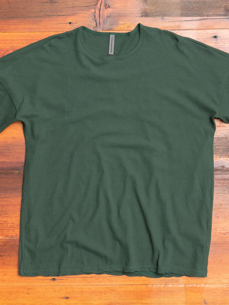 Drop Shoulder Relaxed T-Shirt in Dark Green