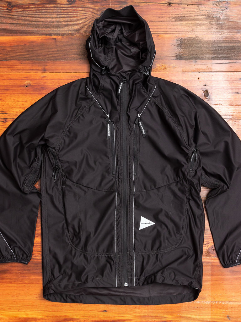 Raschel Ripstop Rain Jacket in Black