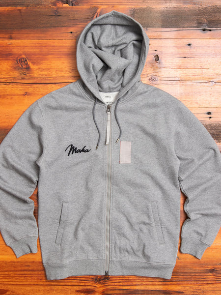 """Ghost"" Zip Hoodie in Marled Grey"