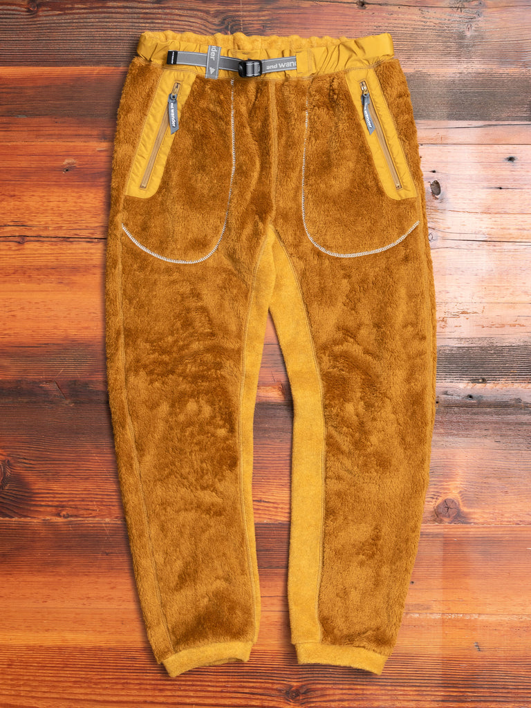 High Loft Fleece Pants in Yellow