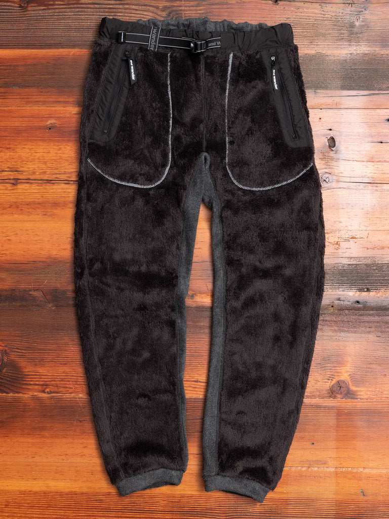 High Loft Fleece Pants in Charcoal