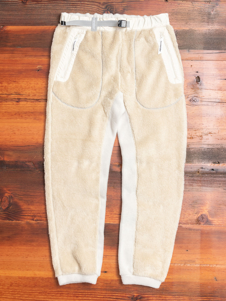 High Loft Fleece Pants in Off-White