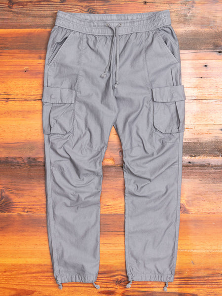 Back Sateen Cargo Pants in Charcoal