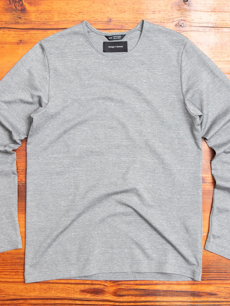 Signals Long Sleeve T-Shirt in Static Grey