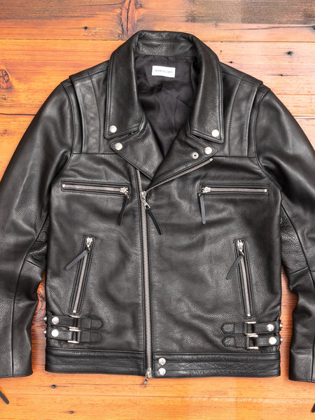 Riders Jacket in Black Cowhide