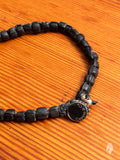 Handwoven Recycled Glass Beads in Black