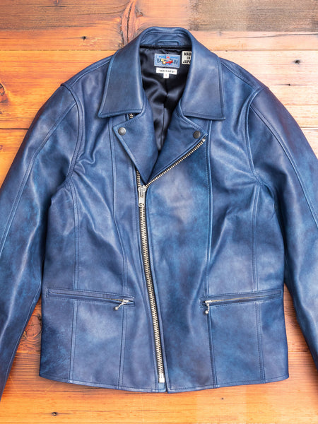 Sheepskin Cutworks Double Riders Jacket in Indigo