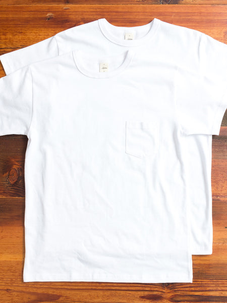 2-Pack Heavyweight Pocket T-Shirts in White