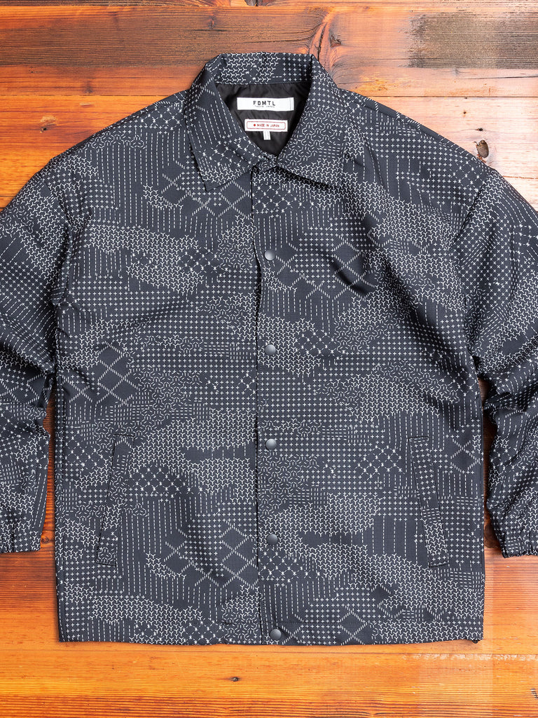 Sashiko Camo Coaches Jacket in Black