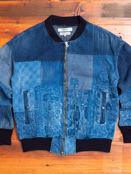 Boro Repair Bomber Jacket in 10-Year Wash