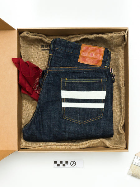 "BOM012 ""Momotaro x Blue Owl"" 15.7oz Selvedge Denim - Tight Tapered Fit"