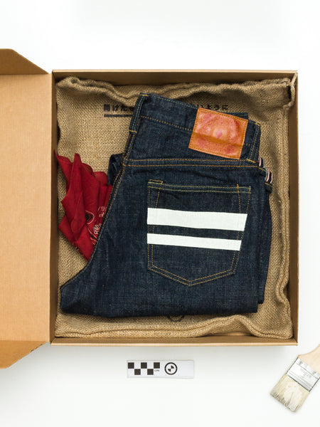 "BOM012 ""Momotaro x Blue Owl"" 15.7oz Selvedge Denim - Natural Tapered Fit"