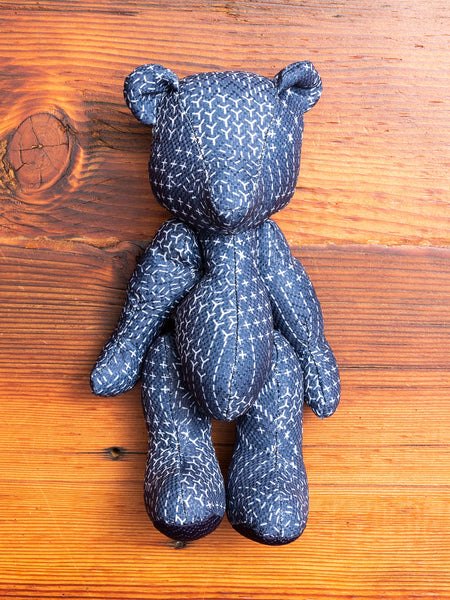 Sashiko Teddy Bear in Indigo