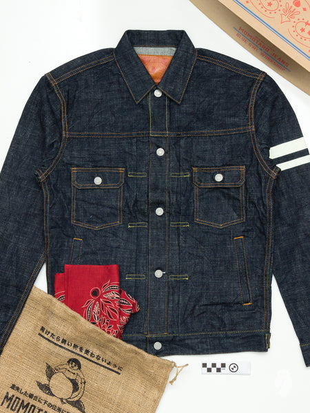 "BOM012 ""Momotaro x Blue Owl"" 15.7oz Selvedge Denim Jacket"