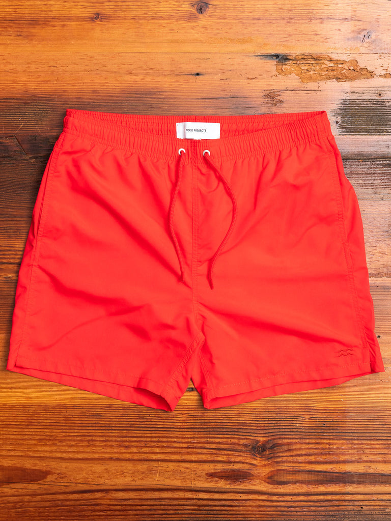 Hauge Swim Shorts in Askja Red