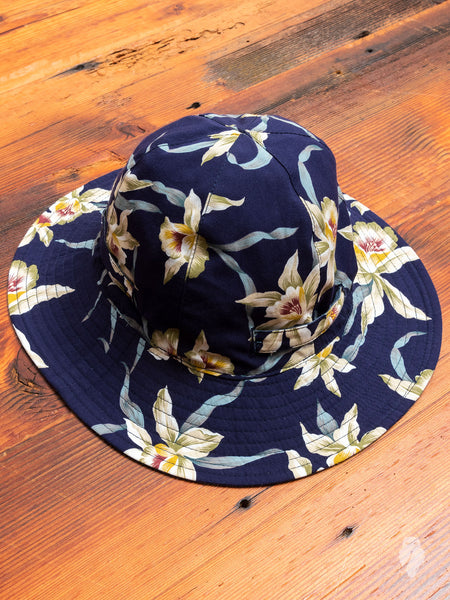 Reversible Sun Hat in Navy