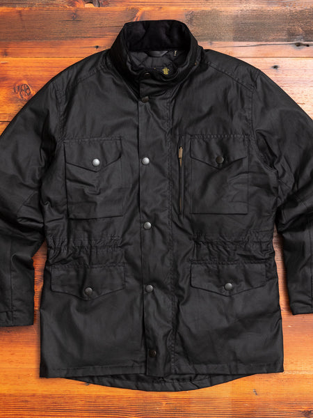 """Sapper"" Wax Jacket in Black"