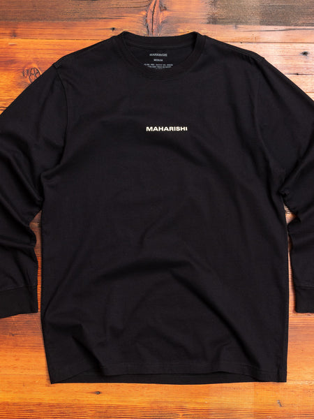 """Dancing Dragons"" Long Sleeve T-Shirt in Black"