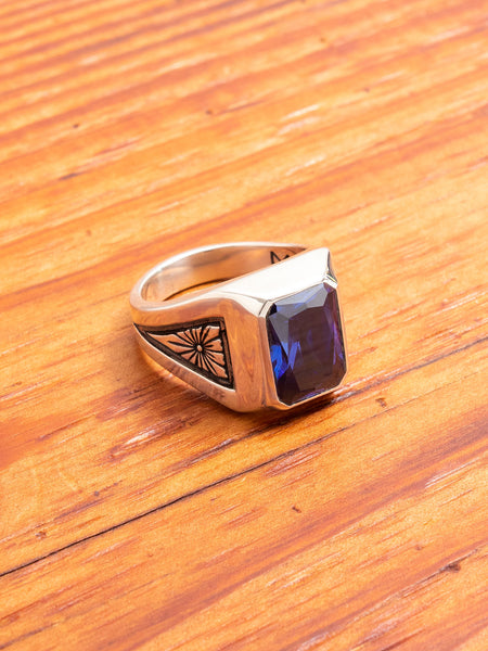 Midnight Ring in Silver/Blue Sapphire