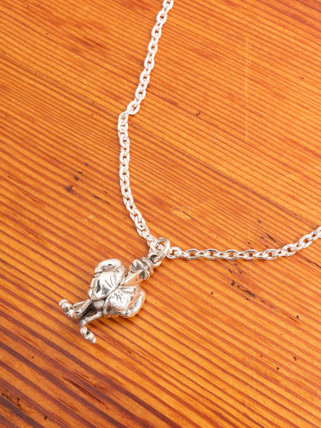 """The Crow"" Necklace in Silver"