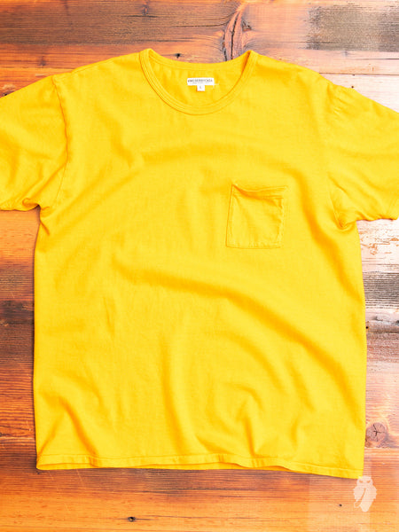Tube Knit Pocket T-Shirt in Mango