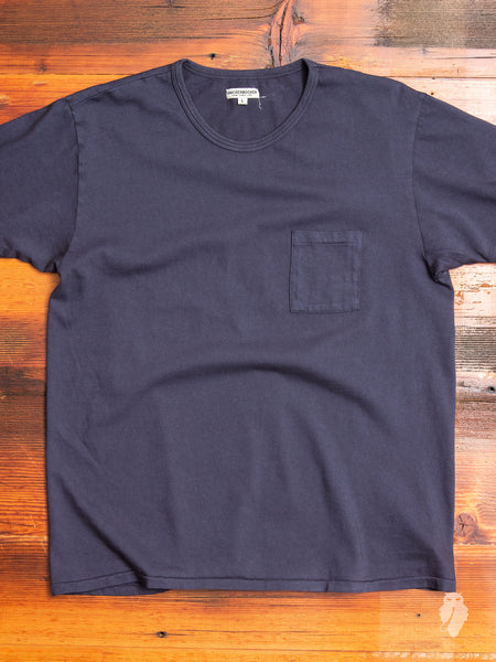 Tube Knit Pocket T-Shirt in Moon Blue