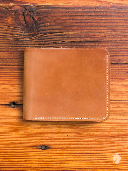 Shell Cordovan Bifold Wallet in Natural