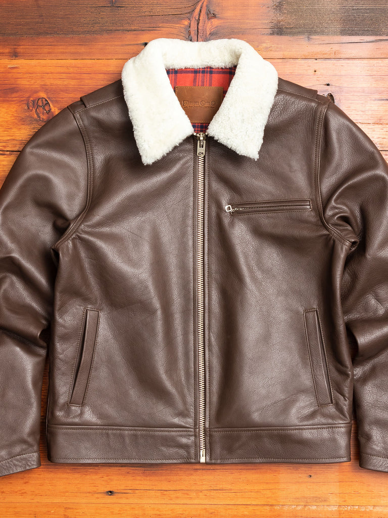 """10th Anniversary"" Leather Jacket in Brown"
