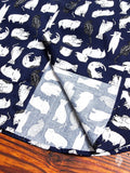 """Cats Sketches"" Button Down Shirt in Navy"