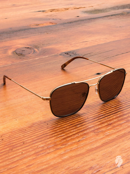 """Marr"" Sunglasses in Smoke Brown"